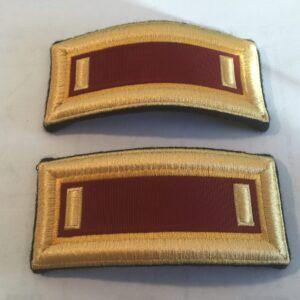 US Army Transportation Corps 2nd LT Shoulder Boards