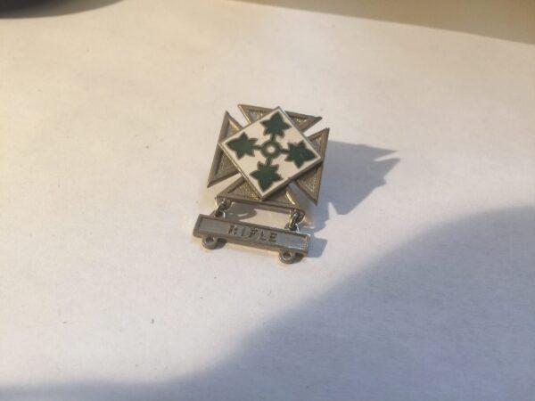 4th Infantry Marksman Badge